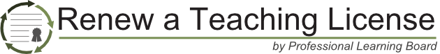 Renew a Teaching License by Professional Learning Board